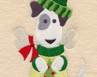 Christmas Delicious Present Dog Embroidered Cotton Kitchen Towel