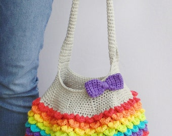 Crochet Pattern Bright and Beautiful Tote