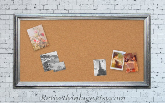 extra large corkboard 53x29 large bulletin board by revivedvintage. Black Bedroom Furniture Sets. Home Design Ideas