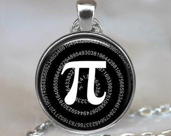 Pi pendant, math pendant, math geek gift, math teacher gift, Pi jewelry, Pi necklace, math student gift, mathematics