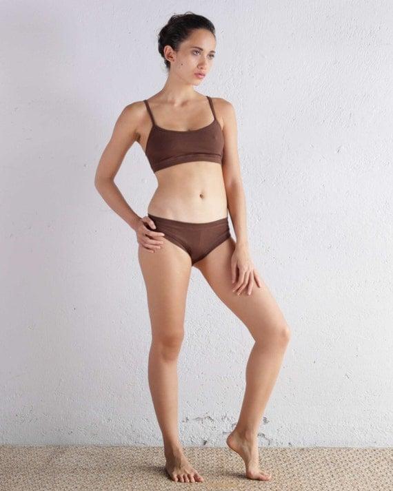 Brown Sports Bra Yoga Bra Top Sports Bra