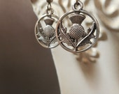 Medieval Jewelry - Scottish Thistle Earrings - Outlander Jewelry - Woodland Jewelry - Dainty Earrings - Gift for Her -  SCA Jewelry