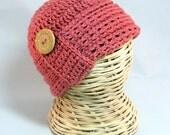 RTS PREEMIE Baby Cloche hat  knit-look crochet baby cap beanie flattering infant - adult