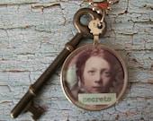 Repurposed Vintage Optometrist Lens Necklace-She Keeps Secrets