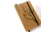 Valentine Gift, Notebook with plain pages, sketchbook drawing blank book, pocket diary, gift for her, art book