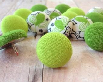 Pretty Thumbtacks,15 Push Pins,Pushpins,Thumbtacks,Thumb Tacks,Lime Green Pushpins,Flower,Decorative Push Pins,Flower Thumbtacks,Lime