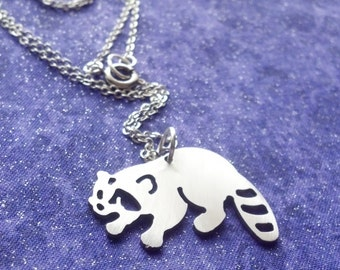Raccoon Charm Necklace Key Chain or Pendant
