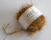 Y A R N. Skein of Fizz Novelty Yarn. Color #9152 Wood Grain