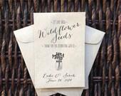 Let Love Grow /// Kraft Paper Flower Seed Favor Envelopes /// Wedding or Baby/Bridal Shower