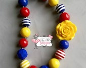 CIRCUS FLOWER Chunky Necklace- Chunky bubblegum necklace, Girls chunky necklace, Gumball necklace, Chunky beaded necklace
