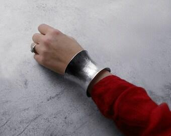 Sterling Silver Anticlastic Cuff Bracelet