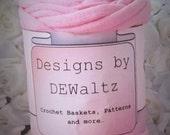 Light Pink Jersey  Tee Shirt Trapillo Yarn from Designs by DEwaltz