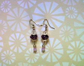 Purple and Crystal Earrings (2023)