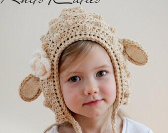 Little lamb crochet baby hat, cute baby hat