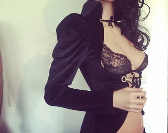 Steampunk VELVET Vest Goth Gothic Jacket riding CHRISST