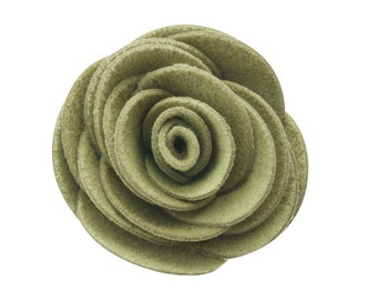 Sage Kitty Corsage - Ultrasuede® Removable Collar Flower