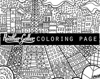 paris eiffel tower coloring coloring book adult coloring book coloring pages adult - Paris Eiffel Tower Coloring Pages