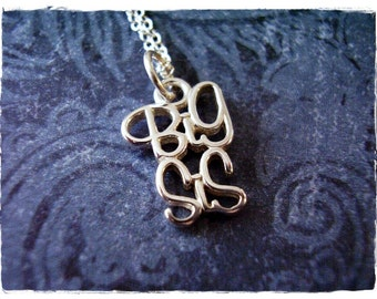 Silver Big Sis Necklace - Sterling Silver Big Sis Charm on a Delicate Sterling Silver Cable Chain or Charm Only