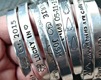 Stacking Personalized Bangle Bracelets