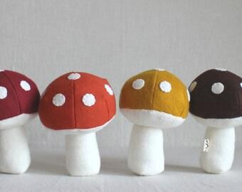 Toadstool Mushroom Rattle