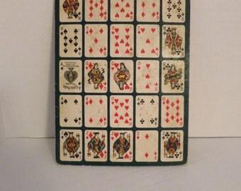 Little Duke No 24 Miniature Playing Card Bingo Sheets for Mixed Media