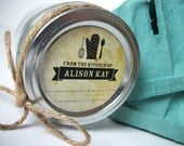 Vintage Custom From the Kitchen of labels, custom kitchen stickers for canning jars or baked goods, personalized round labels