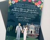 Invite Card : Custom Illustrated Wedding Invitations