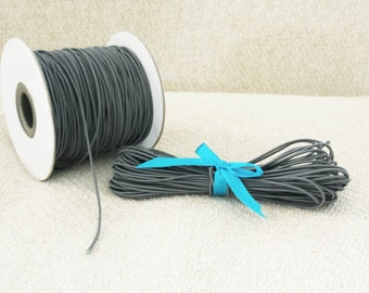 1mm Grey Elastic Cord - Choose your length