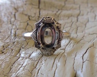 Vintage Clark & Coombs Ring -:- Sterling Setting to Add Stone of Your Choice - Birthstone - 1930s Setting for Child Size 3