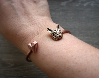 French bulldog love bracelet bangle