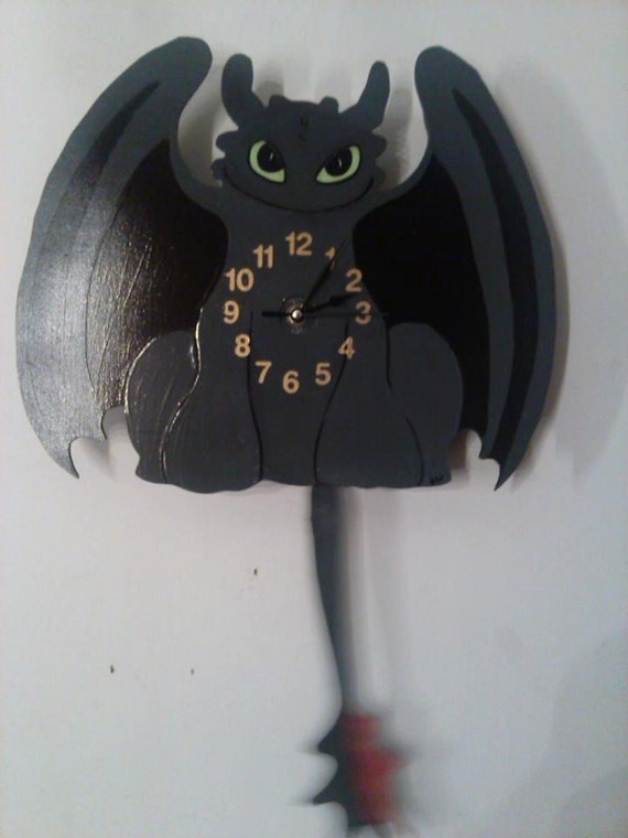 Toothless How To Train Your Dragon Pendulum Clock For By