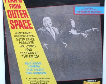 """Sealed """"Plan 9 From Outer Space"""" Vinyl Soundtrack (1989) Ed Wood"""
