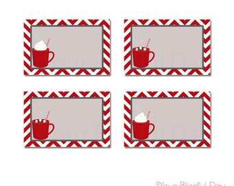PRINTABLE Hot Chocolate Party Label Tents #109