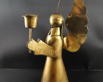 Brass Angel Candle Holder