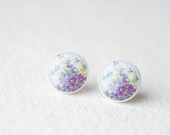 Lilac Earrings - Botanical jewelry - stud earrings