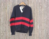 Vintage Lands End Rugby Jersey Mens Medium