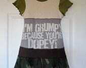 I'm Grumpy Because You're Dopey Upcycled Dress Size 6/ 7