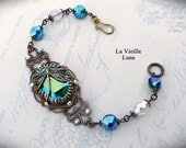 Shabby Vintage Jewel Bracelet, Victorian Bracelet, Victorian Jewelry