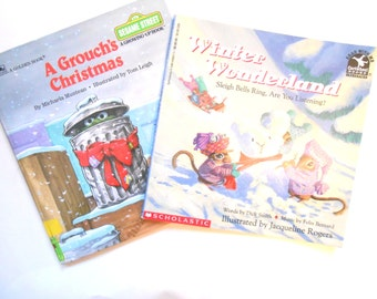 Winter Wonderland and A Grouch's Christmas, Two Vintage Children's Christmas Books