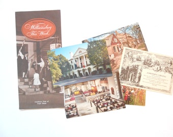 Williamsburg Brochure and Five Postcards