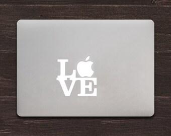 Apple Love MacBook Decal Love Sculpture Mac Sticker BAS-0104
