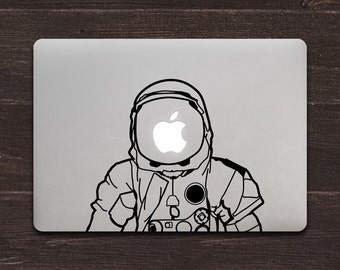 NASA Astronaut Space Warriors Vinyl MacBook Decal BAS-0196