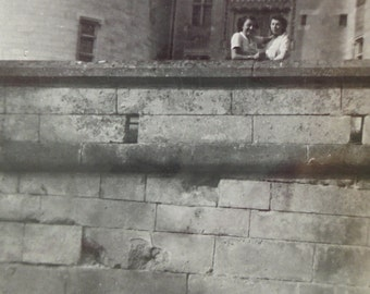 Vintage Photo - Two Women at the Château de Pierrefonds, France