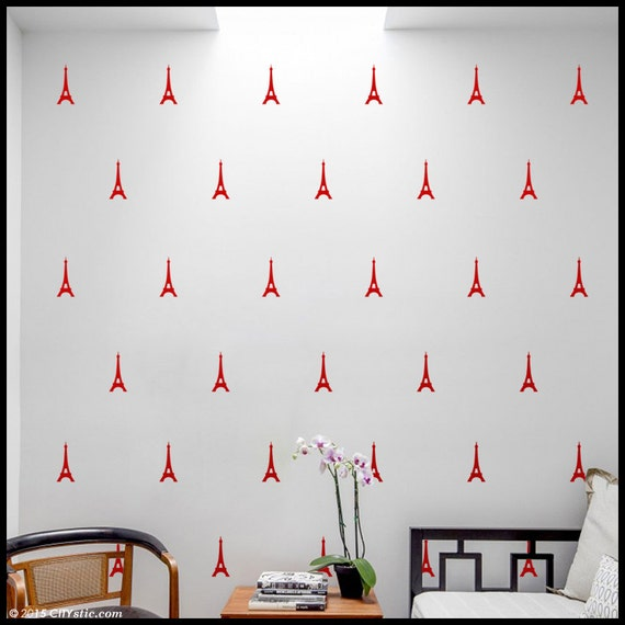 Small Eiffel Tower Wall Decor : Eiffel wall decal small tower stickers by citystic