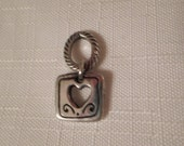 Vintage / BRIGHTON / Heart / Charm / Pendant / Necklace / Choker / Bangle / Bracelet / Silver / Designer / Chic / Fashionista / Accessory