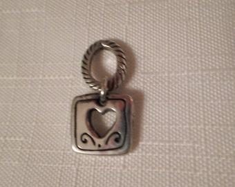 Vintage / BRIGHTON / Heart / Charm / Pendant / Necklace / Choker / Bangle / Bracelet / Silver / Designer / Chic / Fashionista / Accessory