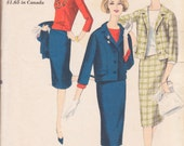 Vogue 4026 Vintage 50s Women's Suit and Blouse Sewing Pattern