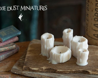 Old Dripping Candle Set - HALLOWEEN RANGE