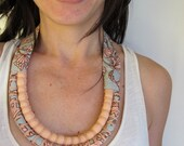Fair Trade - Soft Pink & Baby Blue Two Strand Necklace (Baby Friendly)