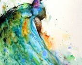 Set of 2 PEACOCK Watercolor Prints by Dean Crouser
